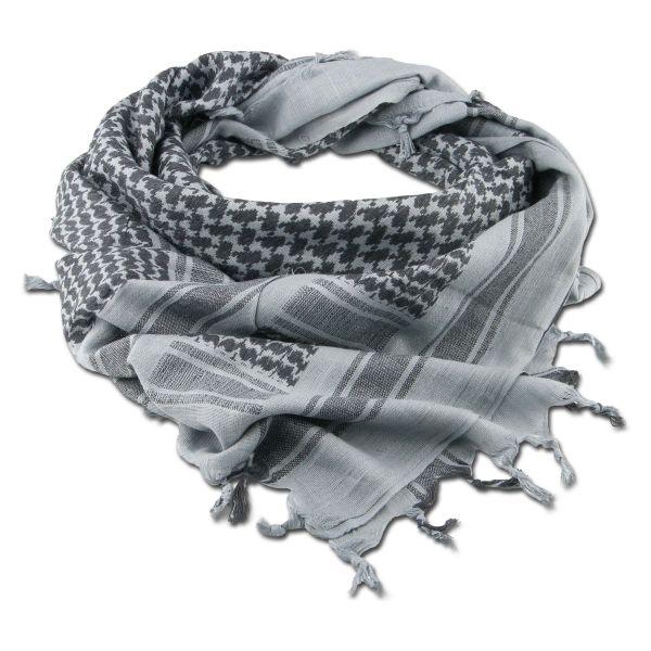 Halstuch Shemagh grau/schwarz 110 x 110 cm