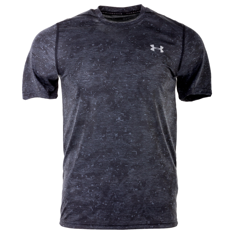 Under Armour Shirt Threadborne FTD schwarz meliert