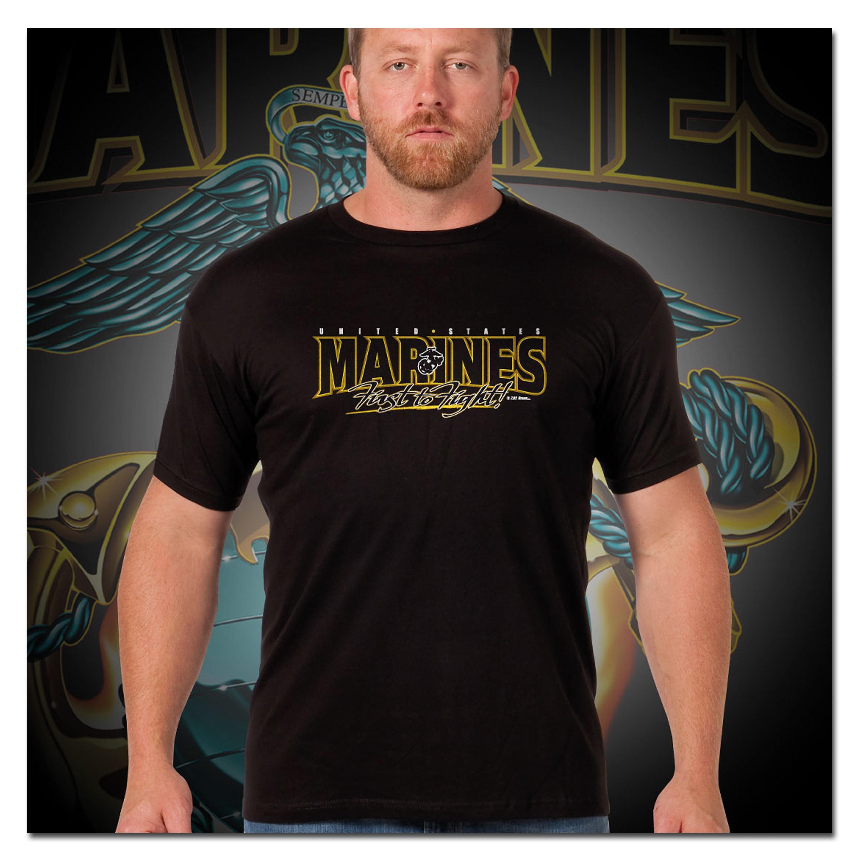 Titanen T-Shirt Marines Globe & Anchor schwarz