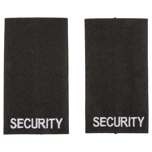 Schulterschlaufen Security schwarz