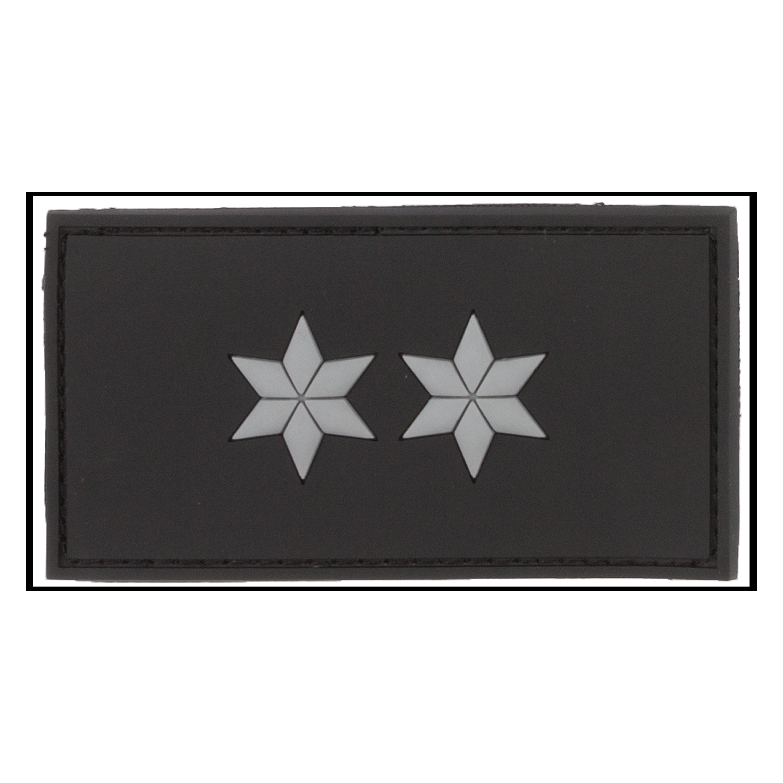 3D-Patch Dienstgradabzeichen Polizeioberkommissar schwarz