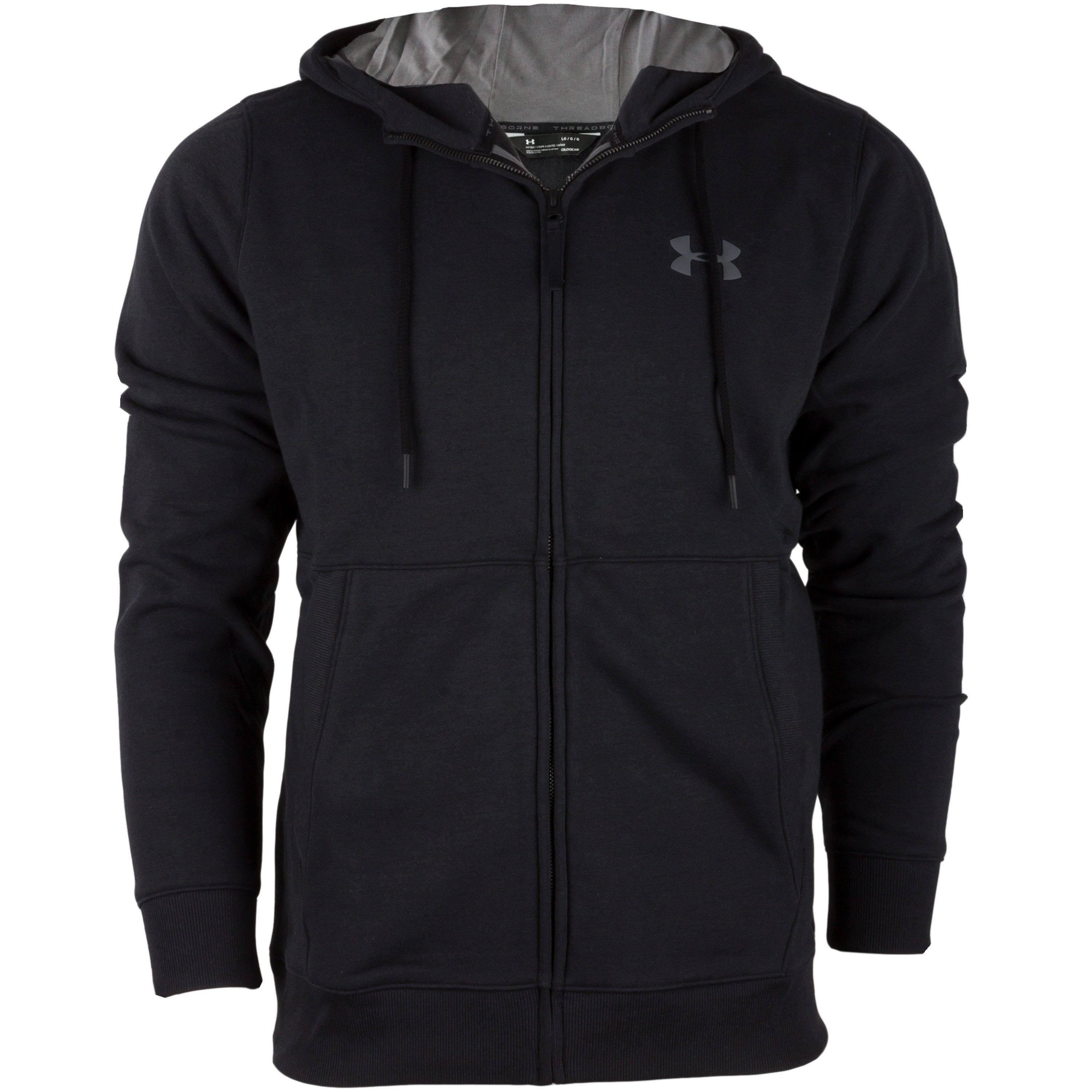 Under Armour Hoodie Threadborne FZ schwarz