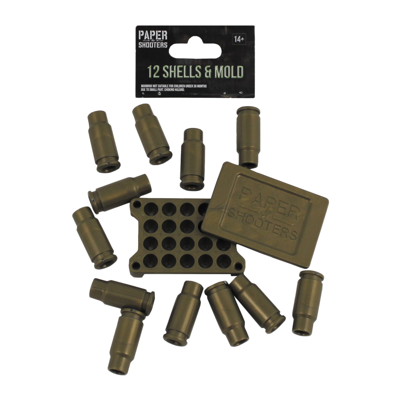 Paper Shooters Ersatzhülsen + Kugelform