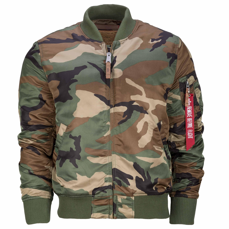 alpha industries camouflage jacke