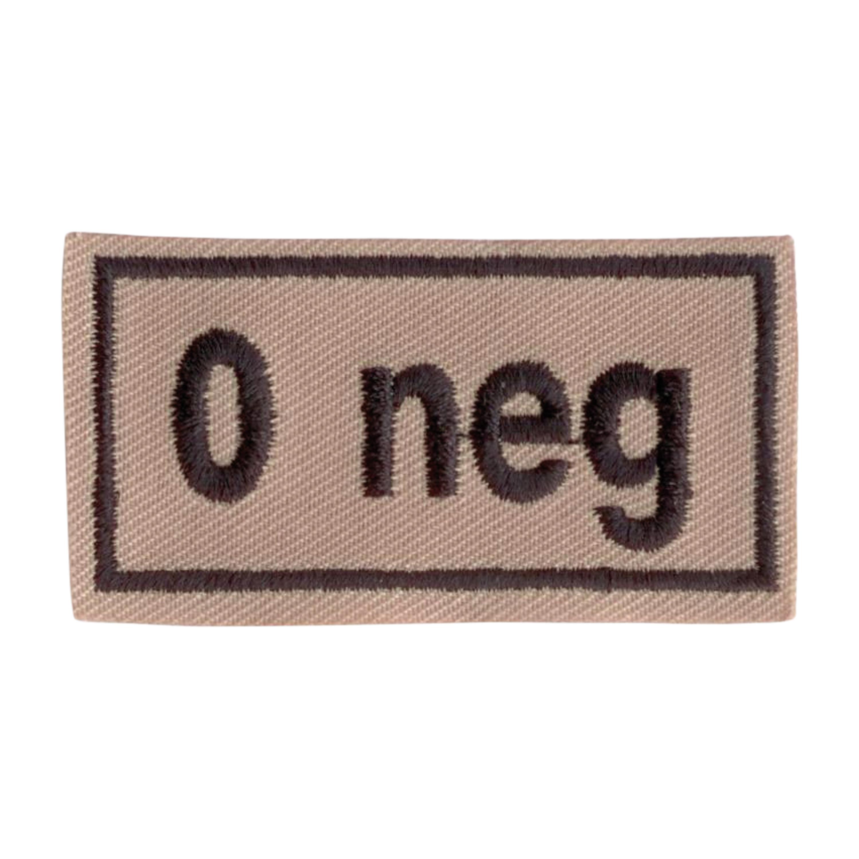 Abzeichen Bloodpatch 0 neg khaki
