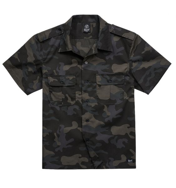 Brandit Shirt US Ripstop Shortsleeve darkcamo