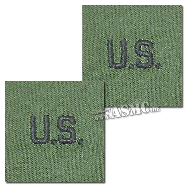 Abzeichen US Letters oliv Textil