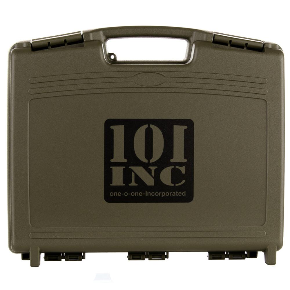 101 Inc. Pistolenkoffer mit Profilschaumstoff oliv