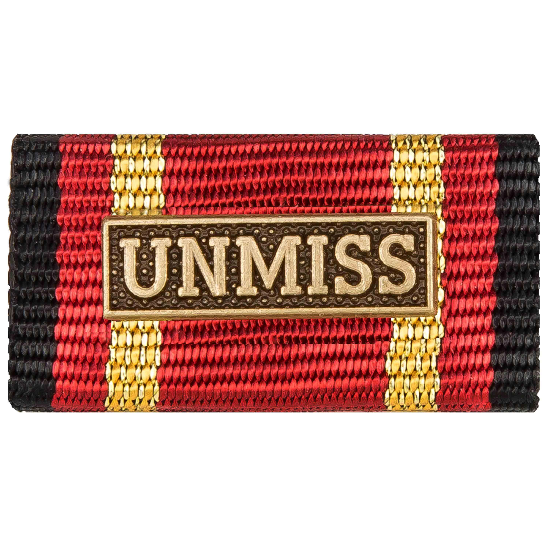 Ordensspange Auslandseinsatz UNMISS bronze