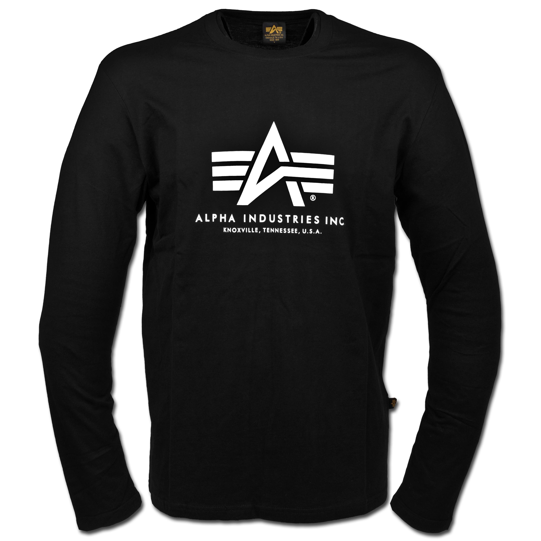 T-Shirt Alpha Industries Langarm schwarz