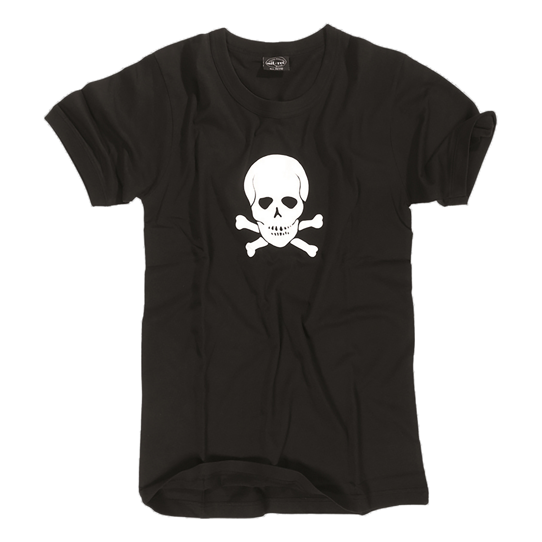 US T-Shirt TOTENKOPF schwarz
