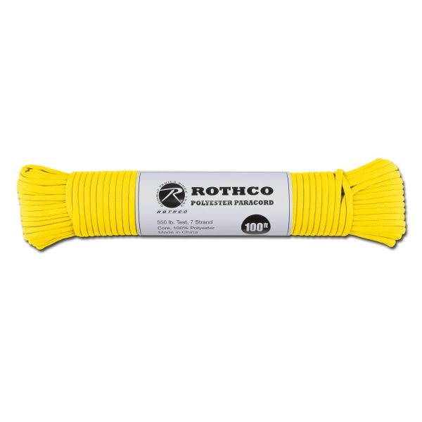 Paracord 550 lb safety gelb 100 ft. Polyester