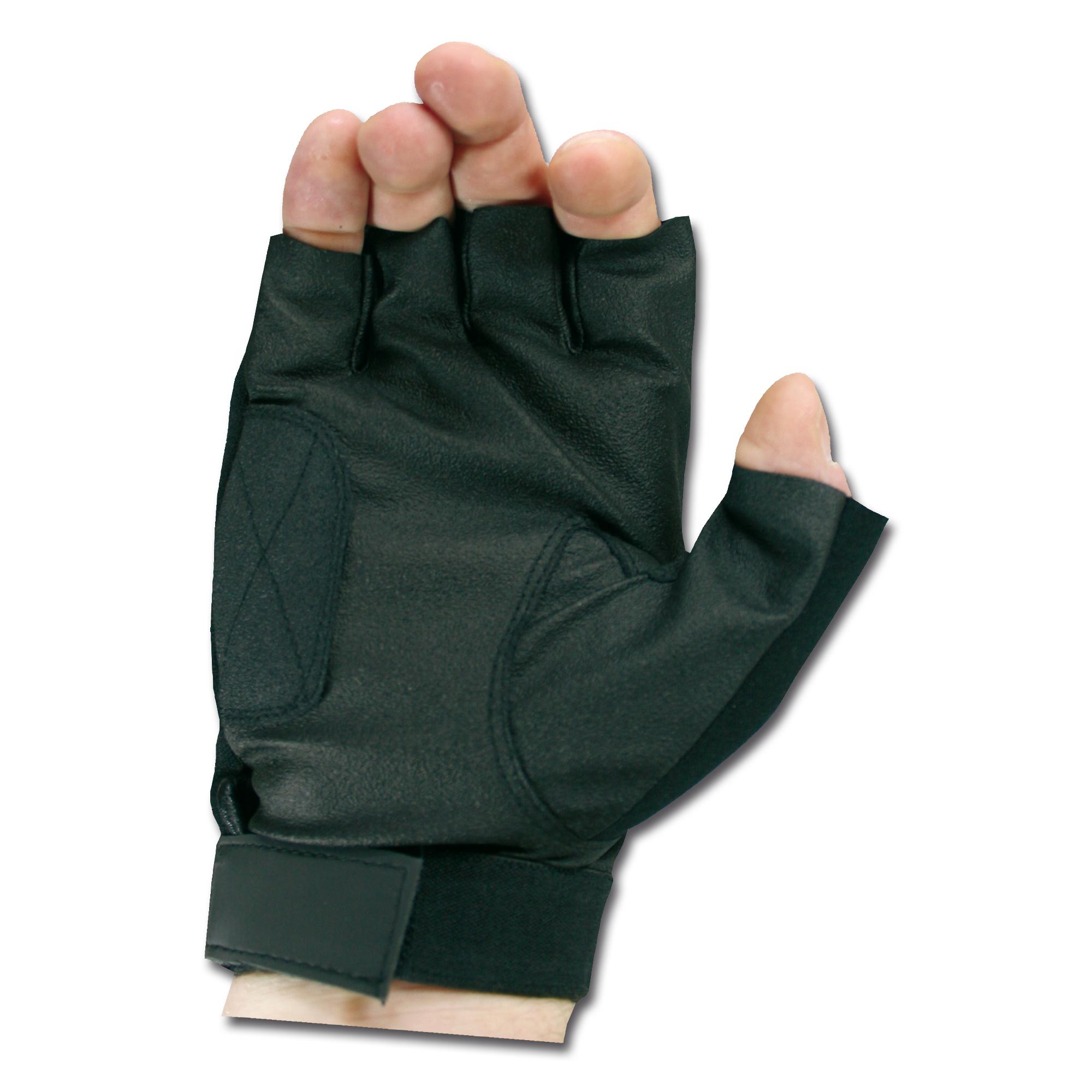 Handschuhe Neopren Halbfinger schwarz