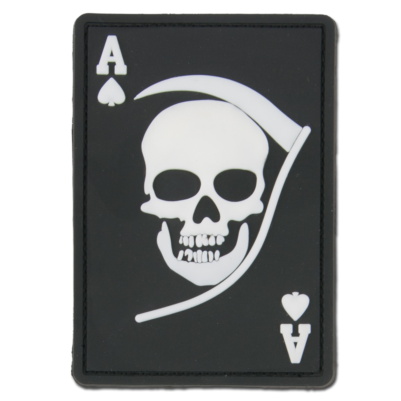 3D-Patch Death Ace schwarz/weiß
