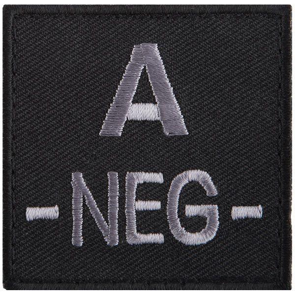 T.O.E Blutgruppenpatch Blutgruppe A negativ schwarz