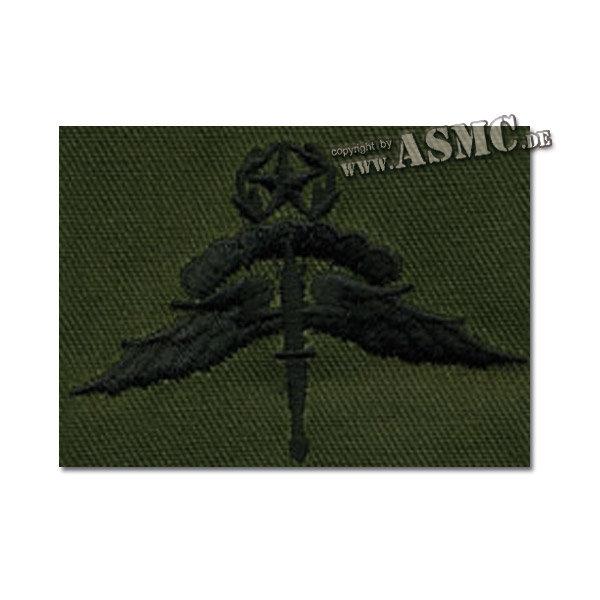 Abzeichen US Freefall Halo Master Textil oliv