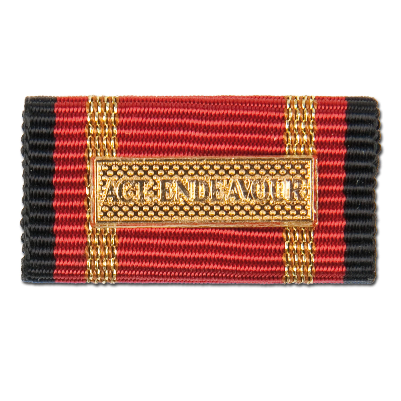 Ordensspange Auslandseinsatz Active Endeavour gold