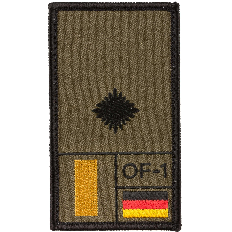 Café Viereck Rank Patch Leutnant oliv