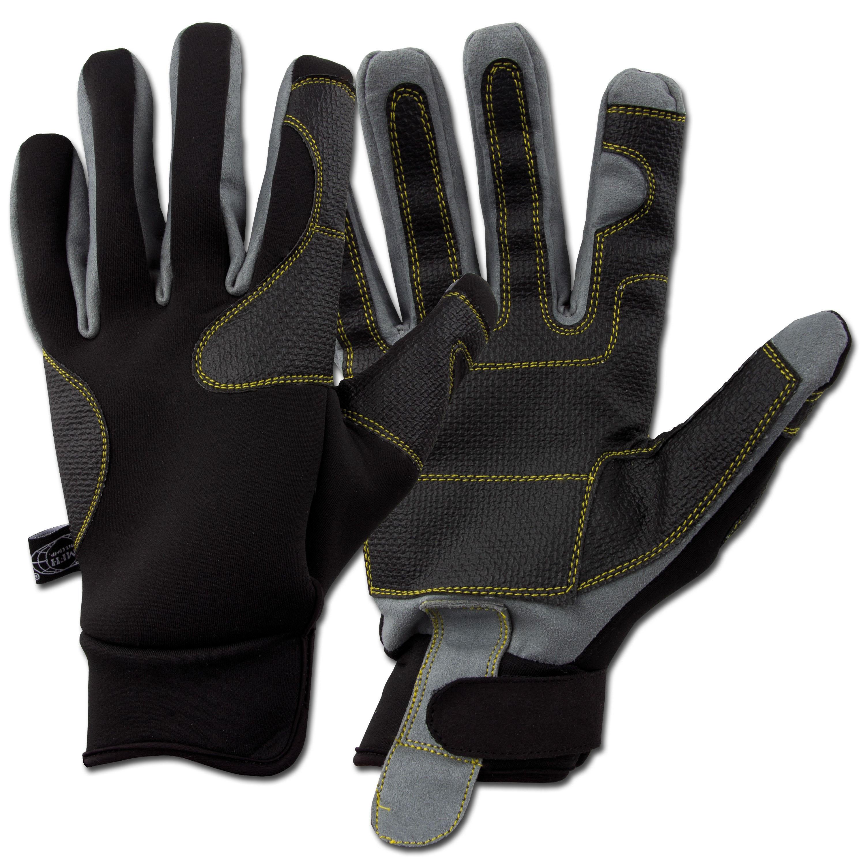 Fingerhandschuhe Neopren MFH Worker schwarz