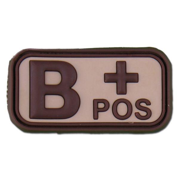 3D Blutgruppenpatch B Pos desert
