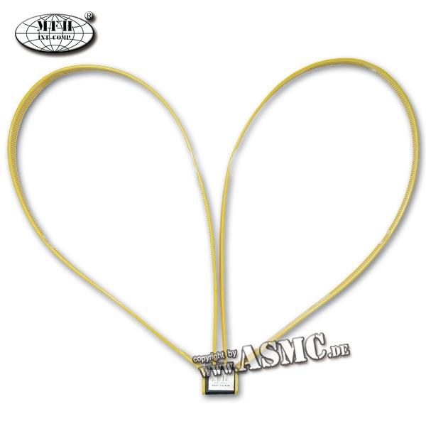 Kunststoffhandschellen MFH gelb 12,5 mm 10er-Pack