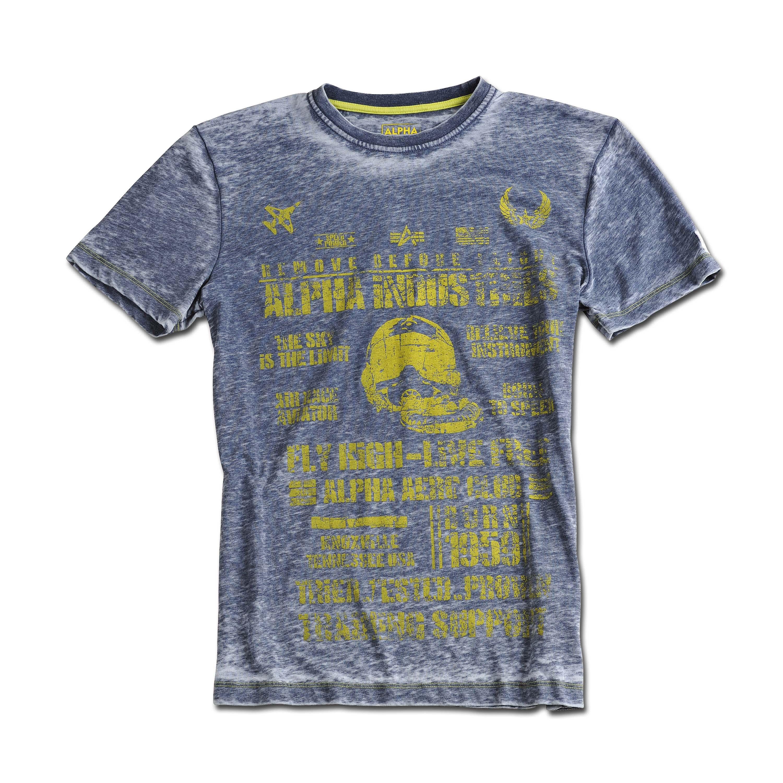 T-Shirt Alpha Industries Aero Club grau