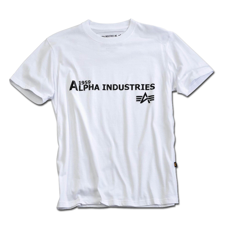 T-Shirt Alpha Basic Print 14 weiß