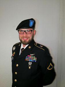 US Barett mit Uniform