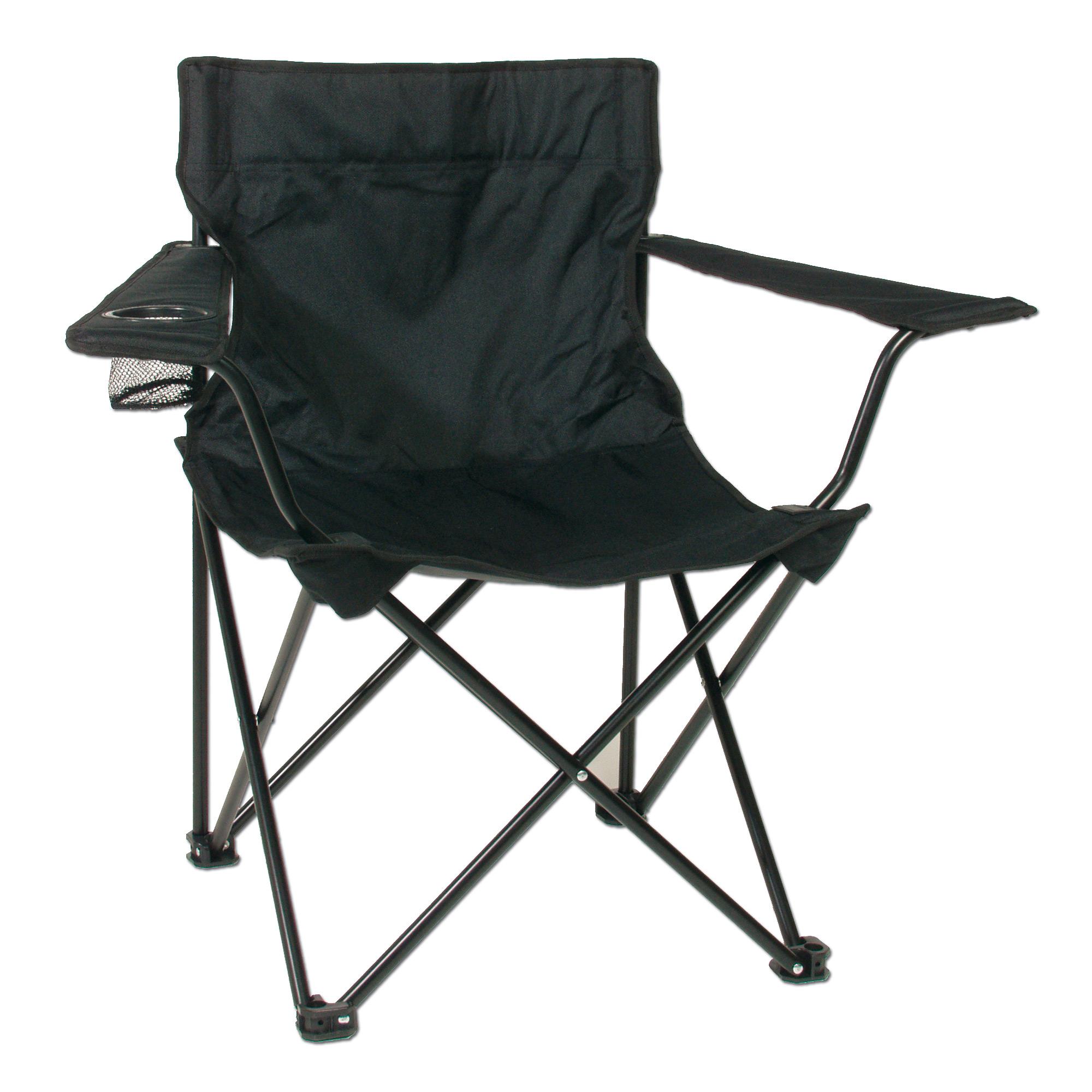 Klappstuhl schwarz mit Stahlgestänge