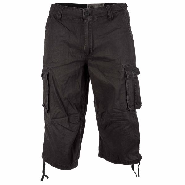Air Combat 3-4 Shorts Mil-Tec washed schwarz