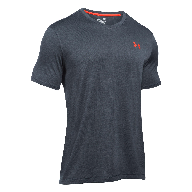 Under Armour T-Shirt Tech V-Neck grau