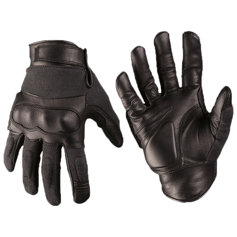 Handschuh Tactical Gloves Leder Kevlar schwarz