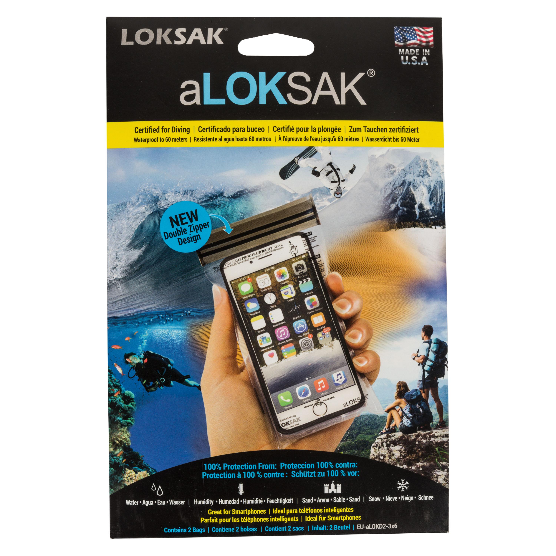 aLoksak 2-er Pack 7.6 x 14 cm