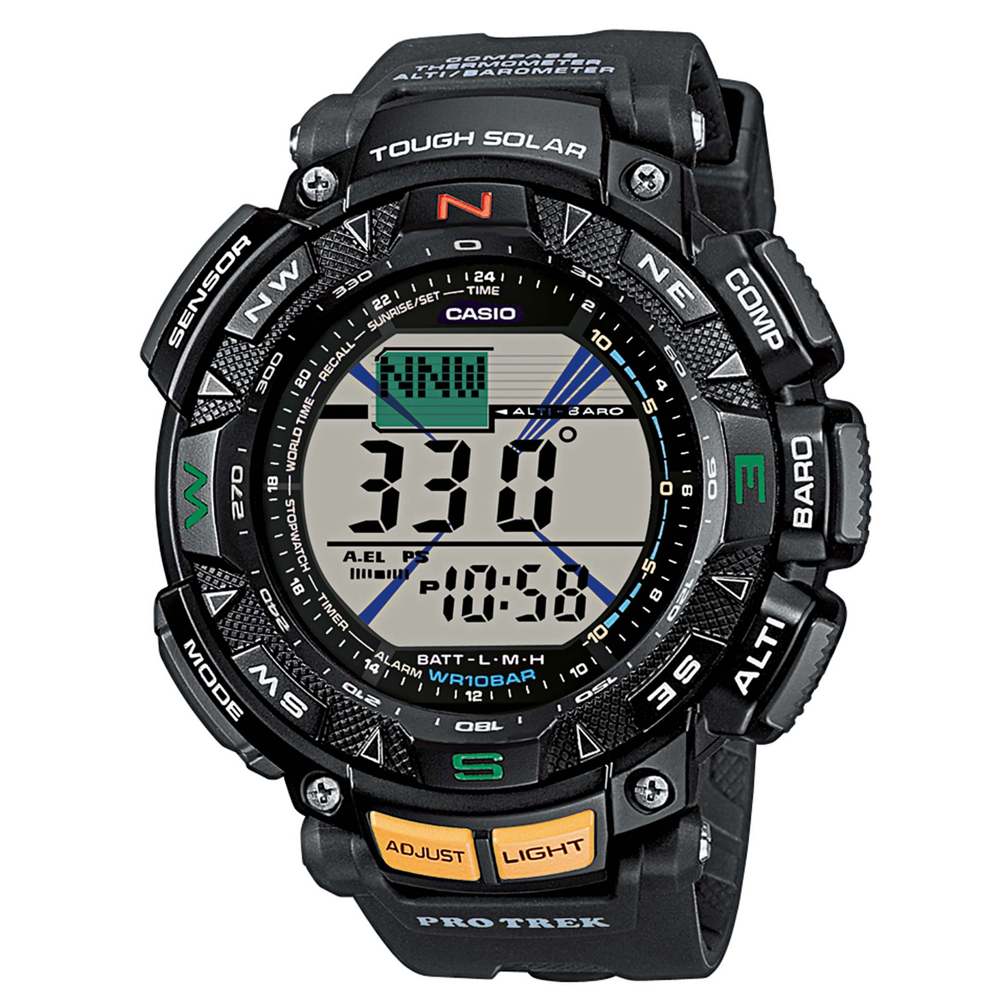 Casio Uhr Pro Trek Saltoro Kangri PRG-240-1ER schwarz
