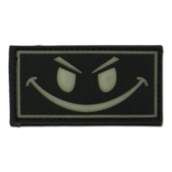 3D-Patch Evil Smiley nachleuchtend invers