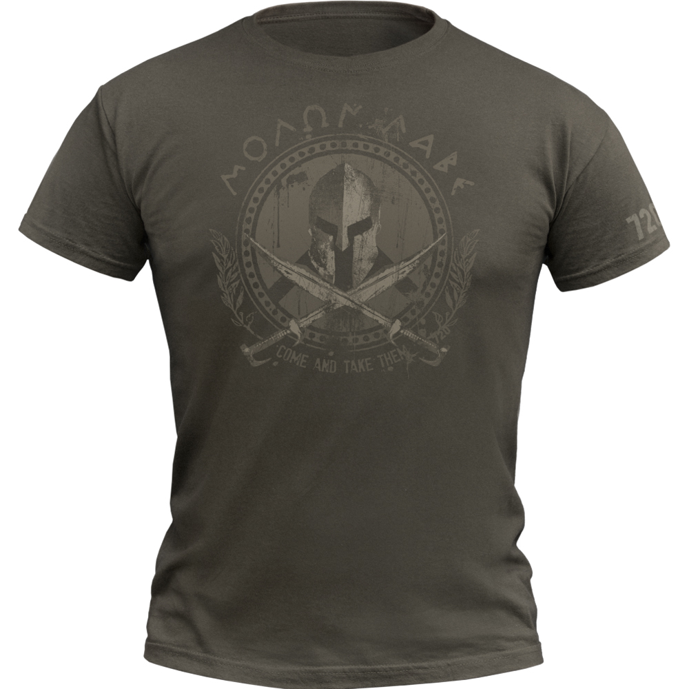 720gear T-Shirt Molon Labe army oliv
