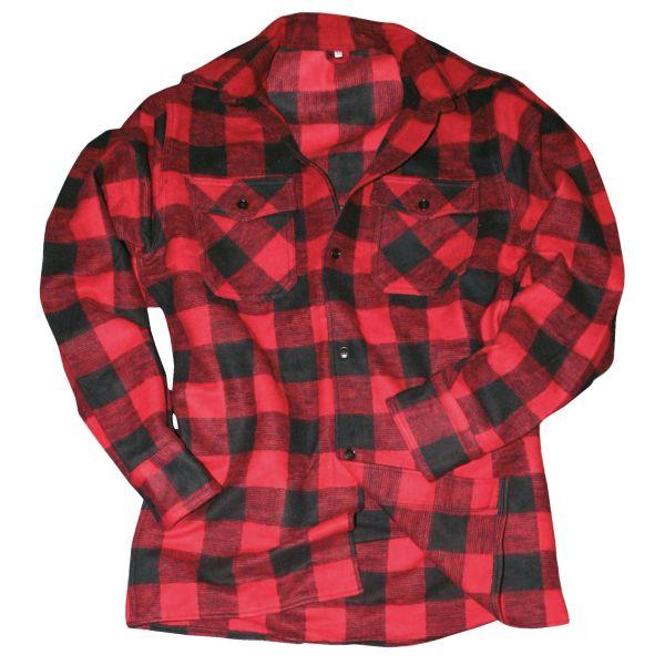 Mil-Tec Holzfällerhemd schwarz rot