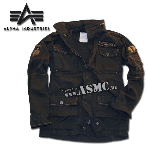 Alpha Industries Arlington Jacke schwarz