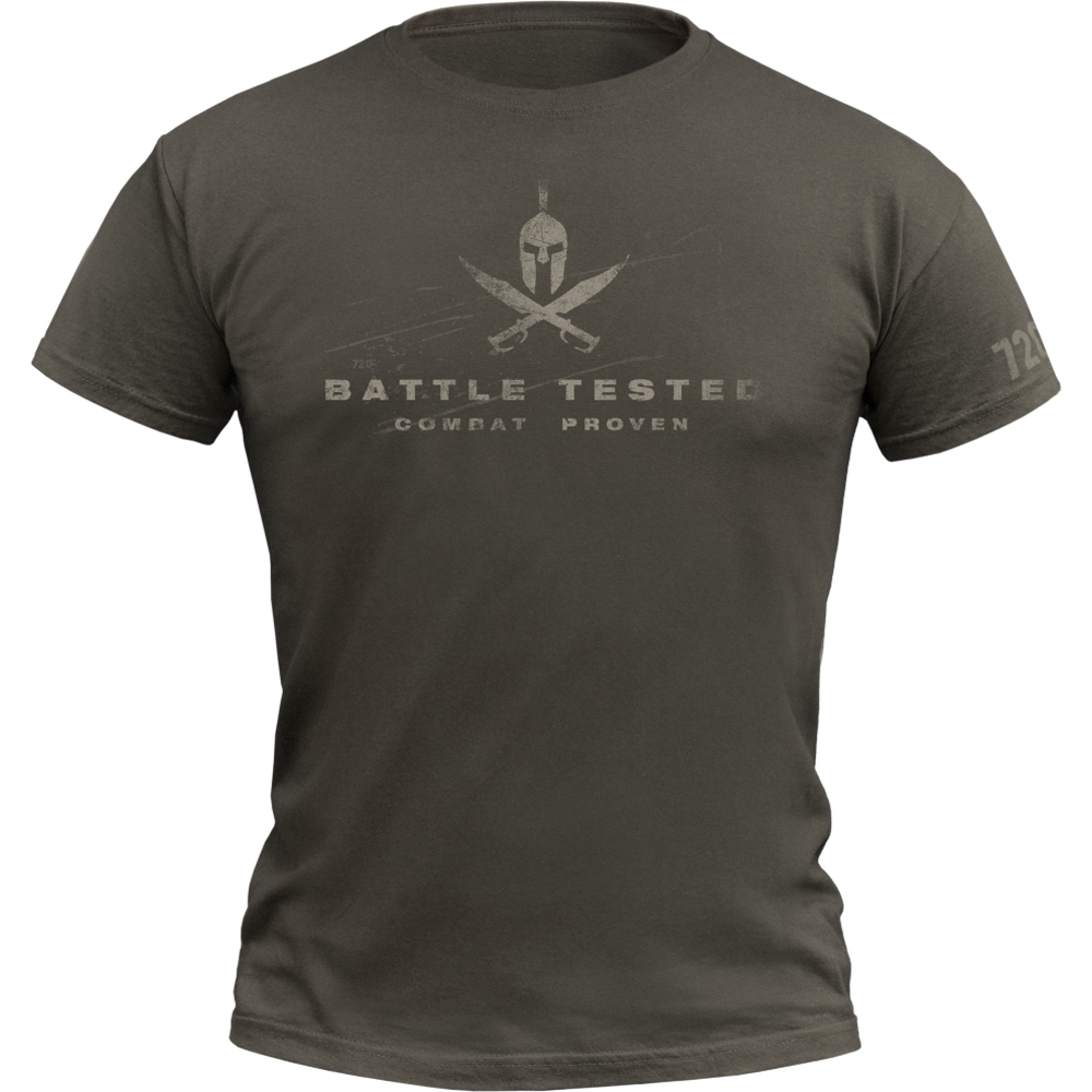 720gear T-Shirt Battle Tested army oliv