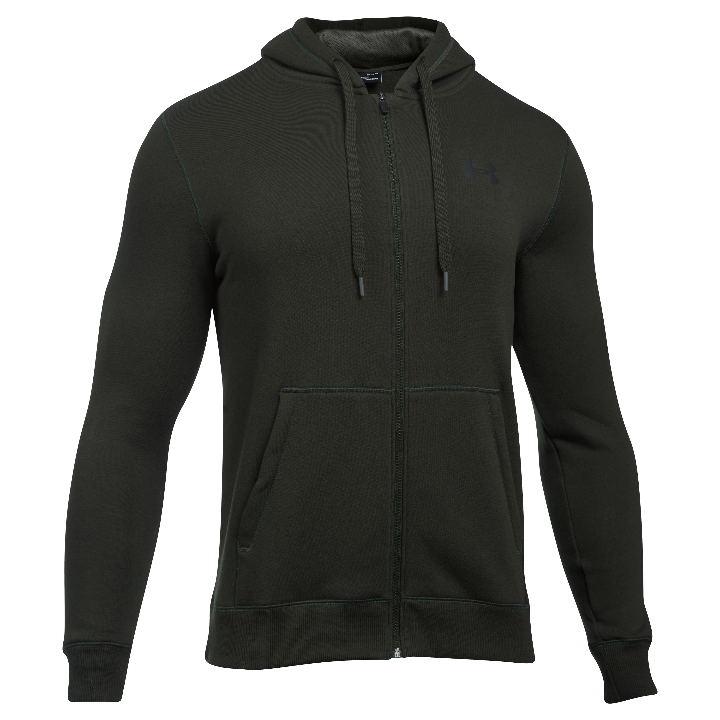 Under Armour Hoodie Rival Fitted dunkelgrün