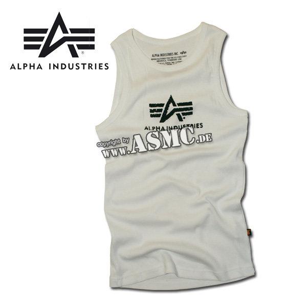 Tank Top Alpha Logo weiss/schwarz