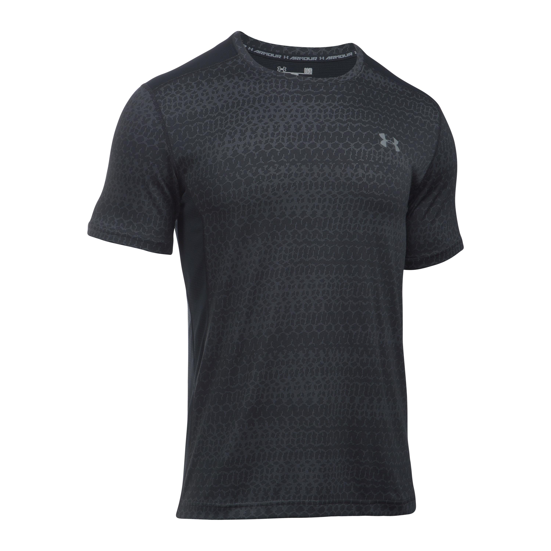 Under Armour Fitness T-Shirt Raid Jacquard SS schwarz grau