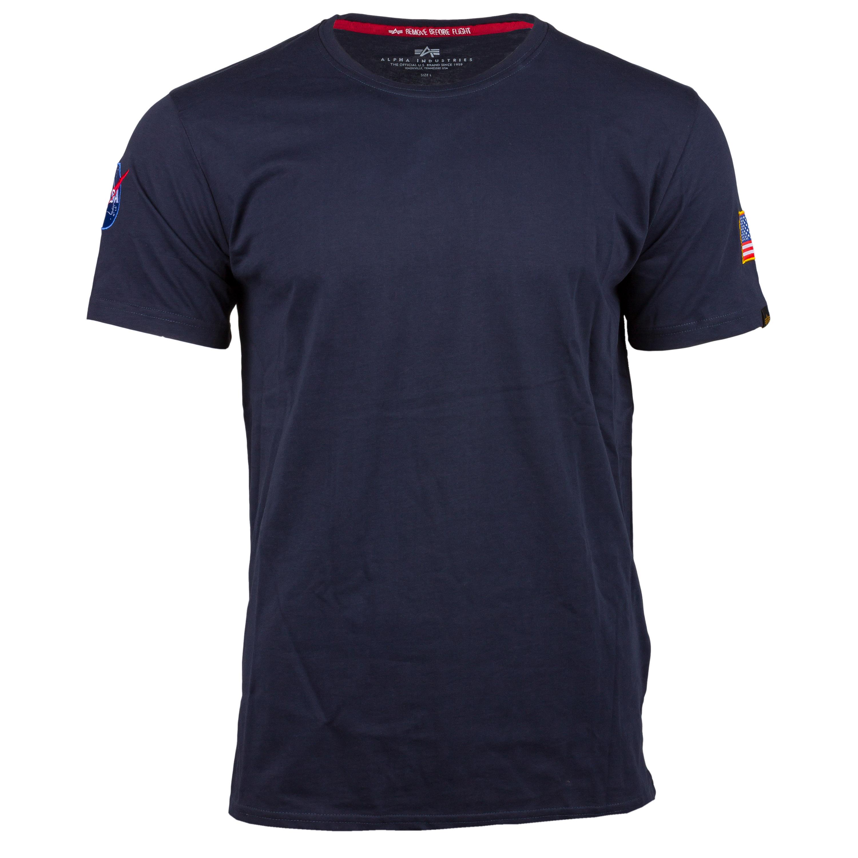 Alpha Industries T-Shirt NASA blau