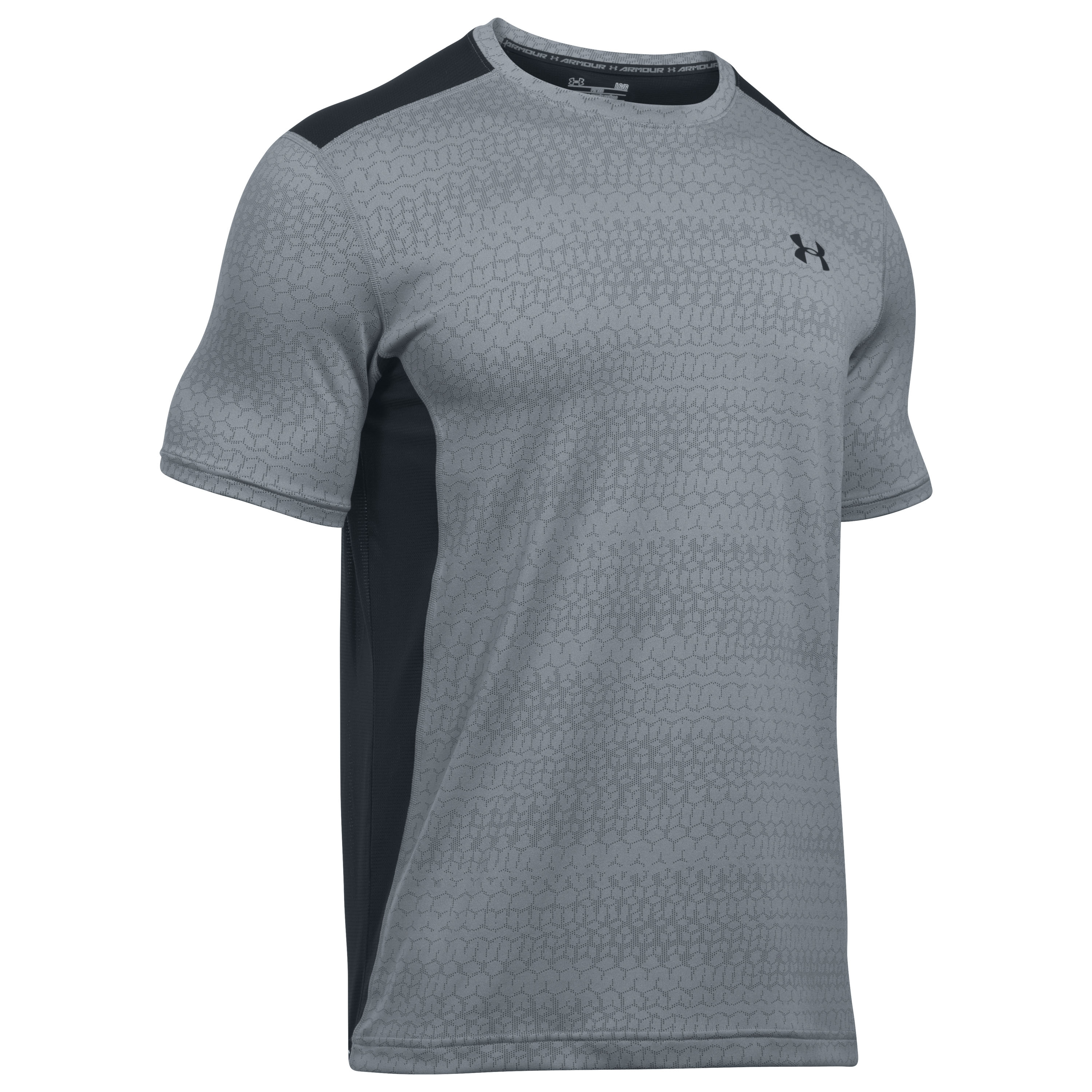 Under Armour Fitness T-Shirt Raid Jacquard SS grau schwarz