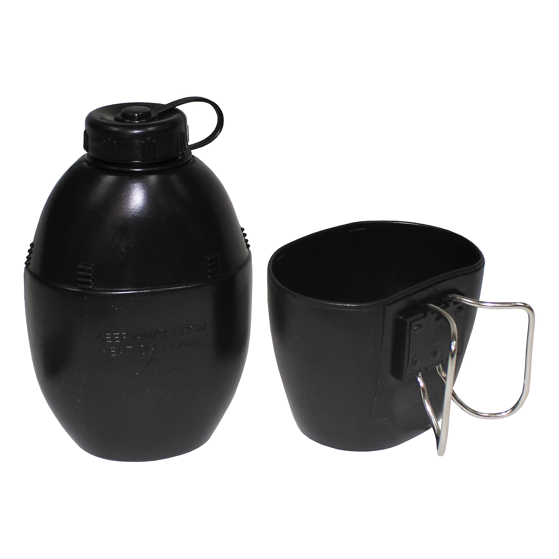 Britische Plastikfeldflasche schwarz