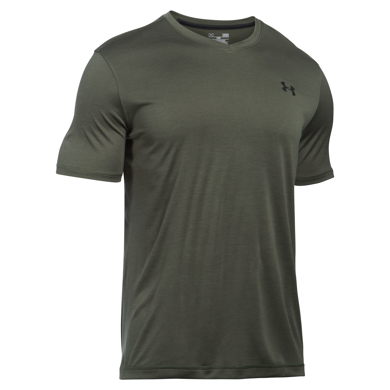 Under Armour T-Shirt Tech V-Neck oliv