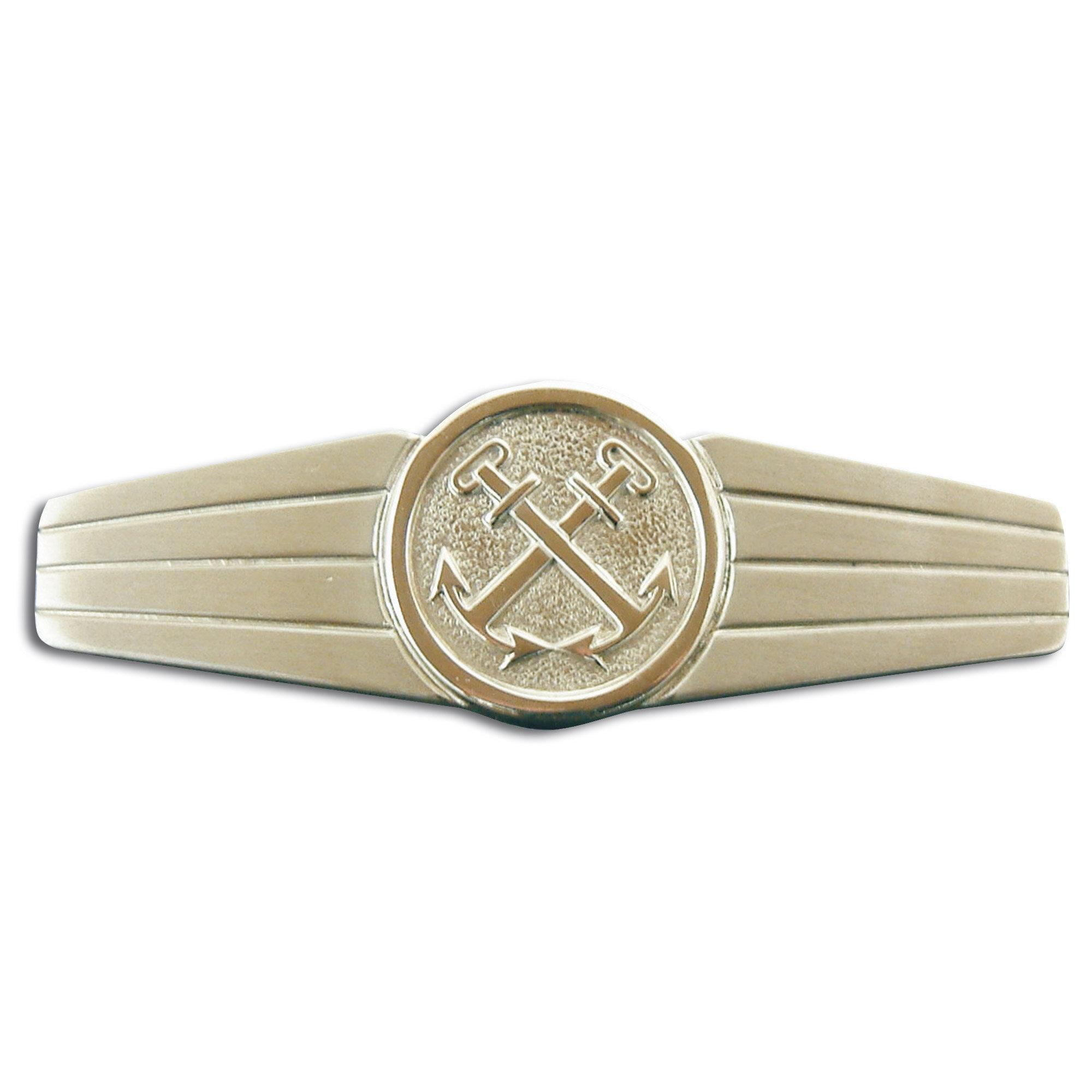 Abzeichen BW Marinedienstpersonal Metall silber