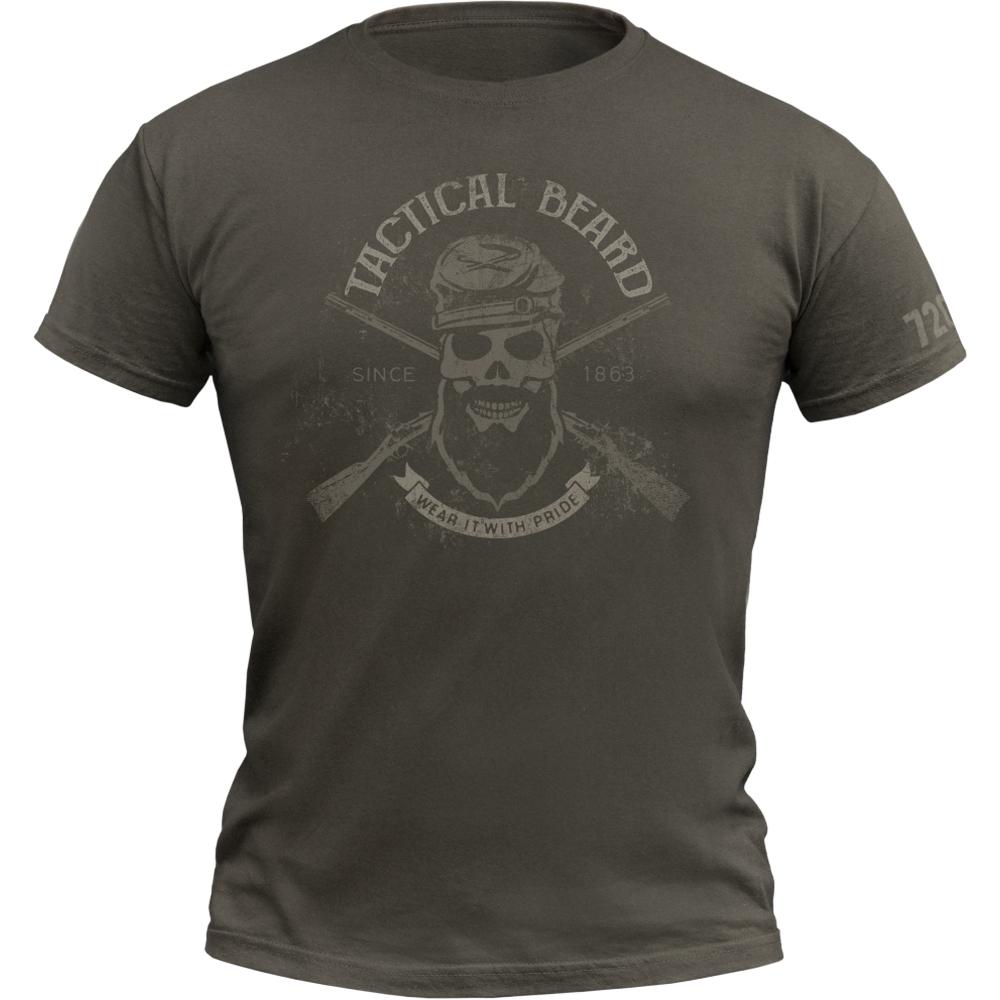 720gear T-Shirt Tactical Beard army oliv