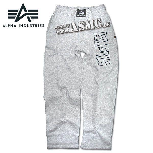 Sweatpants Alpha Industries Track grau