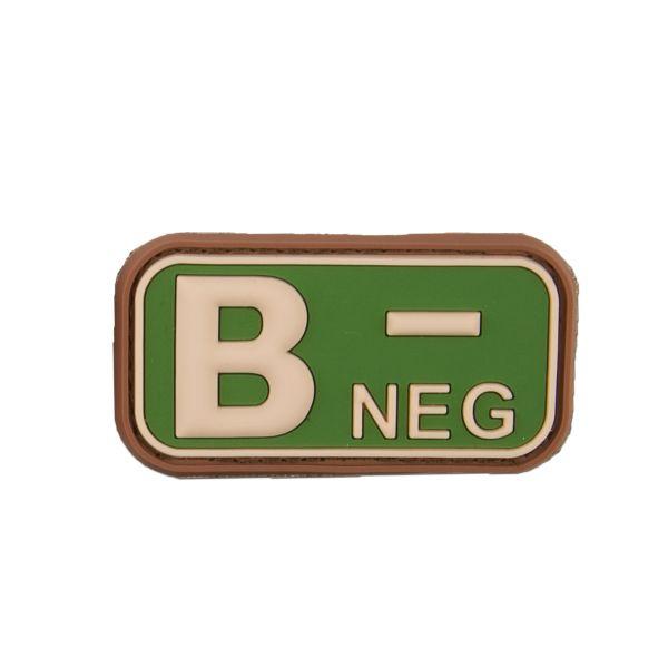 3D Blutgruppenpatch B Neg multicam